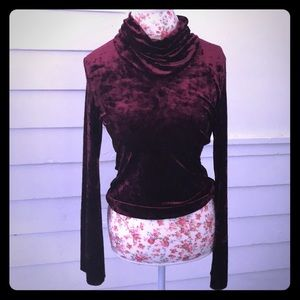 Sense Tops - 5/$20 Crushed velvet turtleneck bell sleeves L M